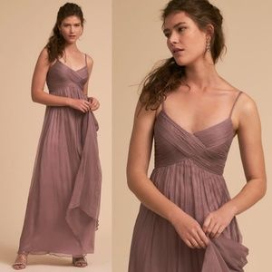 Anthro BHLDN Brigitte Violet Maxi Wedding Dress